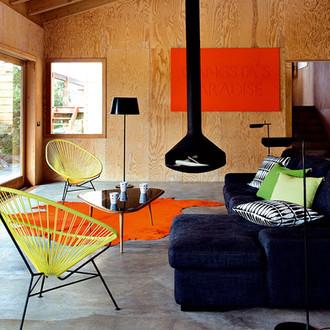 Un salon avec cheminée: ambiance chaleureuse!
