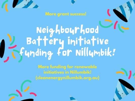More funding for renewable initiatives in Nillumbik!