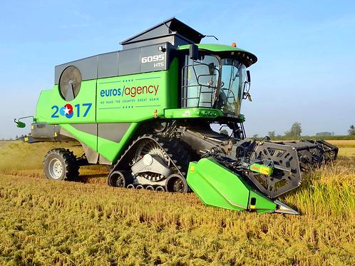 Leisurely Combine Harvester