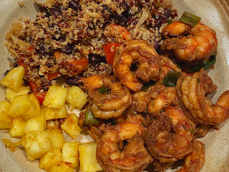 Jamaican Jerk Shrimp Bowl