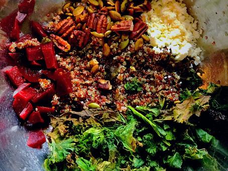 Salade de Quinoa aux Betteraves et Fromage Feta