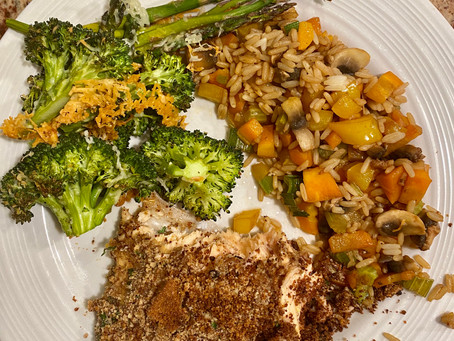 Pecan Crusted Salmon with Dijon/Maple