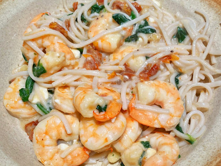 Creamy Shrimp Linguini with Sun-Dried Tomatoes