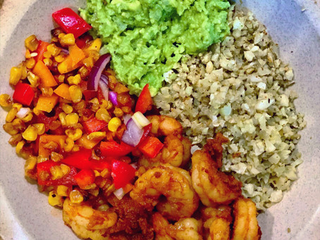 Cajun Shrimp Bowl with Roasted Corn Salsa