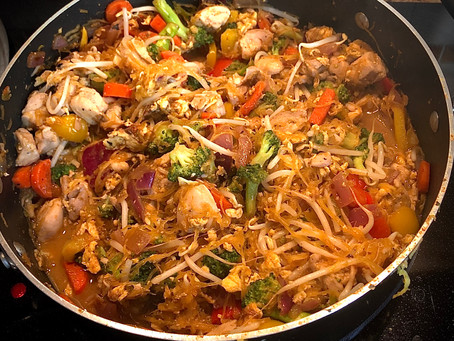 Chicken (or shrimp) Peanut Pad Thai