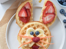 Easter Bunny Waffles