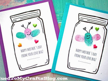 Thumbprint Mother's Day Love Bug Cards