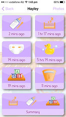 Phoenix Diary app girl categories page