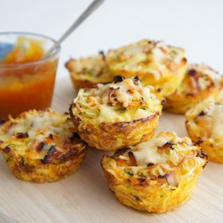 Vegetable, ham & noodle cups