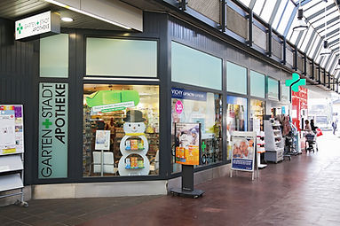 Gartenstadt Apotheke, Schaufenster