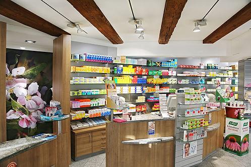 Innenbereich Storchen Apotheke & Drogerie