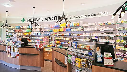 Neubad Apotheke & Drogerie, Innenbereich