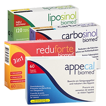 Biomed liposinol,carbosinol appecal,reduforte