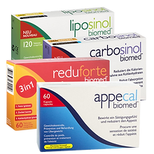 Biomed liposinol, carbosinol appecal, reduforte