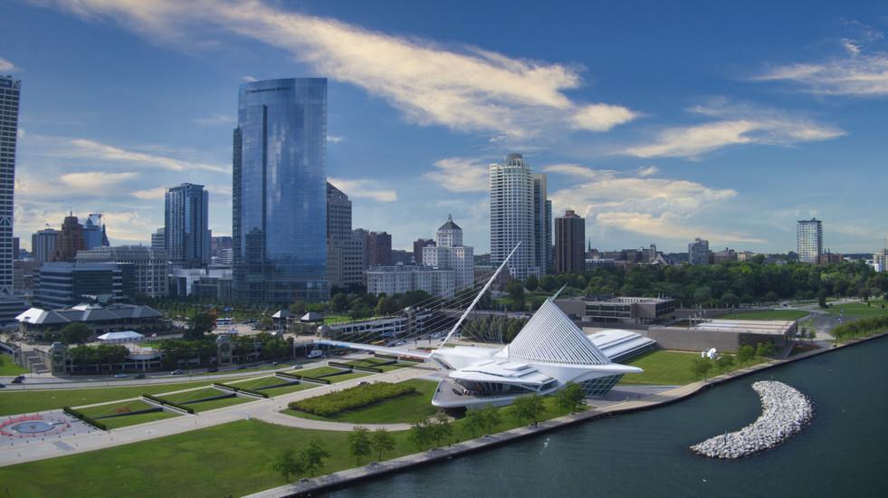 Milwaukee Skyline from Lake Michigan