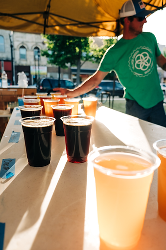 Oconomowoc Beer lined up at BeerFest