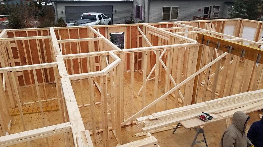 Full home build custom framing