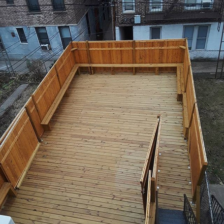 Wood deck in Astoria queens done by Amac