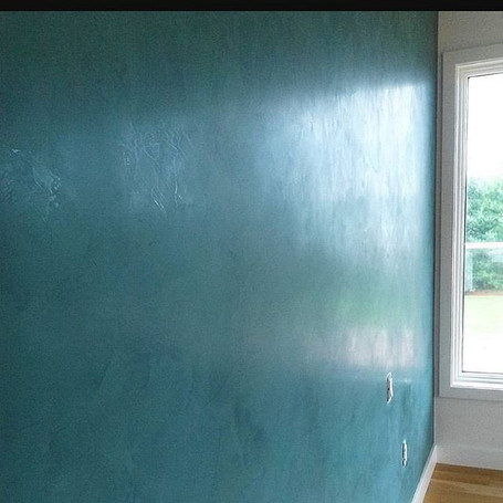 Venetian plaster done by Amaco