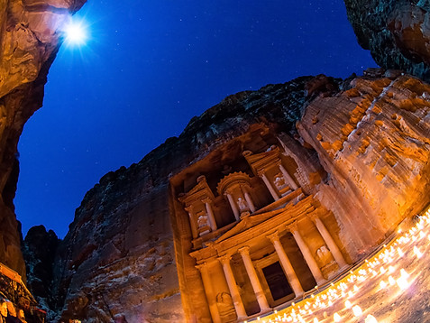 Petra at Night - full moon