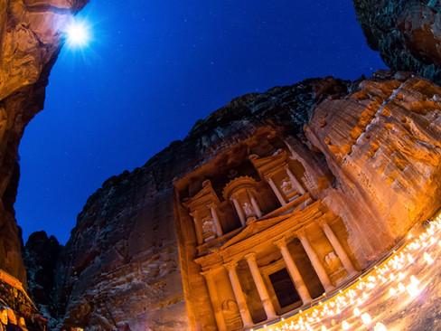 Petra at Night - full moon