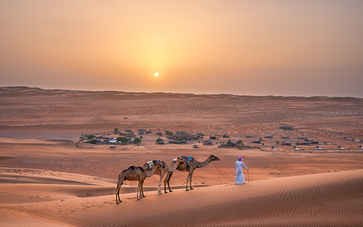 Desert Camp Sunset