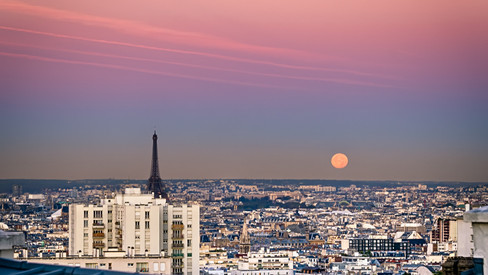 Paris Full Moon Rising