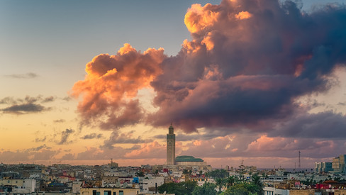 Casablanca sunset