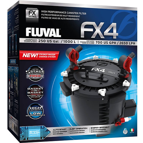 FX4 High Performance Canister Filter, up to 250 US Gal (1000 L)