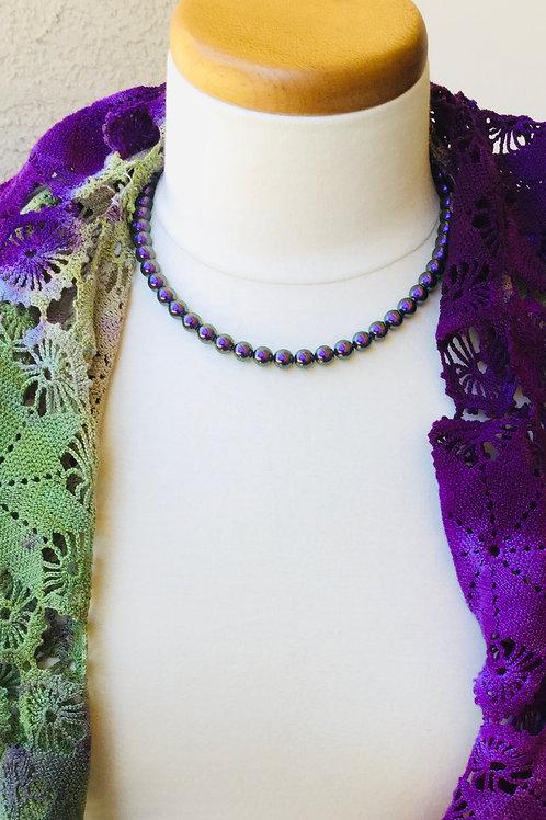 Iridescent Purple Necklace