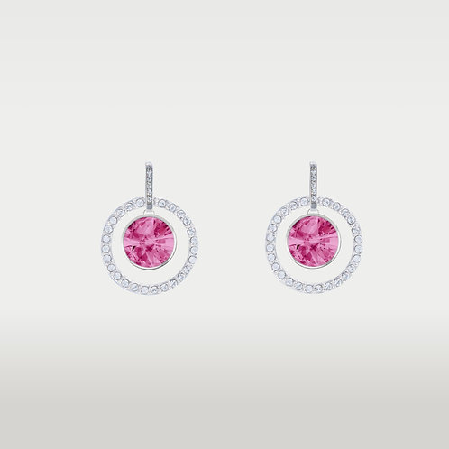 Birthstones Earring Silver/ Interchangeable