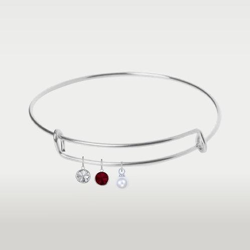 Birthstone Bracelet-Silver