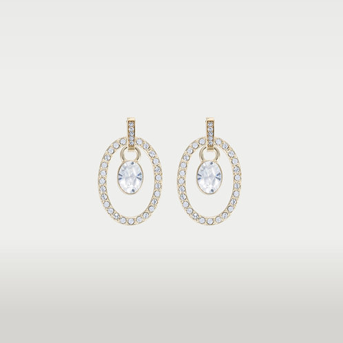 Timeless Ovals (M) Earrings with Swarovski Stone (S)