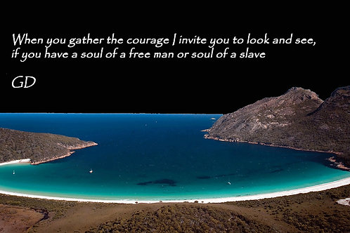 When you gather the courage I invite you