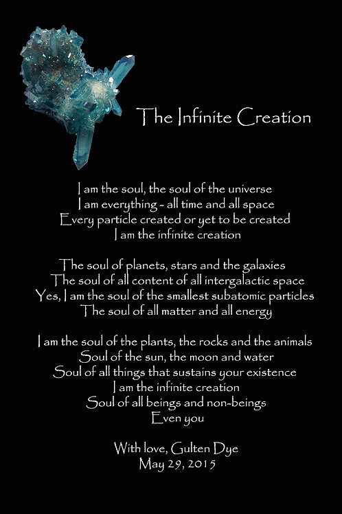 The Infinite Creation