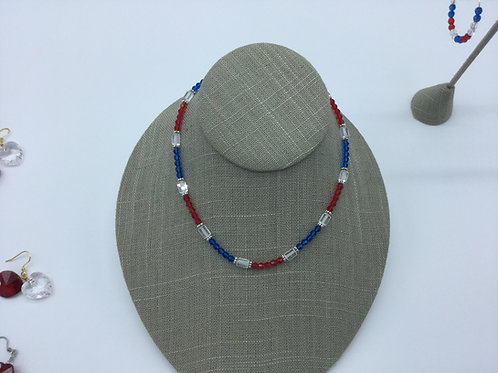 Red,White&Blue  Necklace-Happy 4th-2