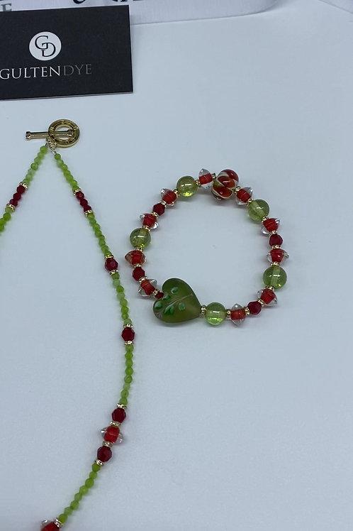 Hand blown Glass bead Set