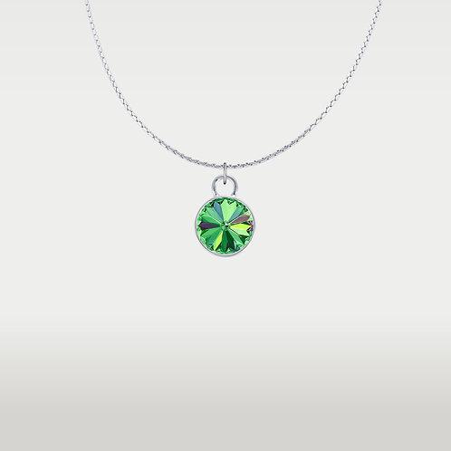 Splash of Color Necklace Silver