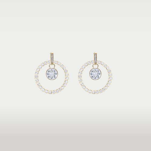 Infinite Circles (M) Earrings with Swarovski Stones (S)