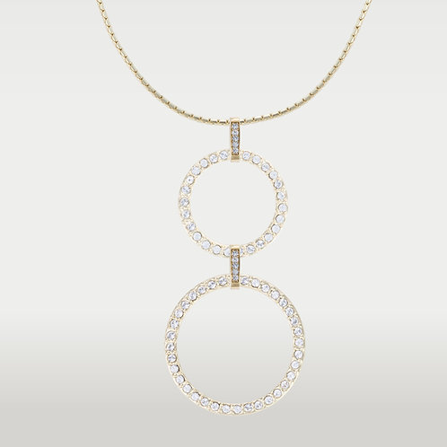 Infinite Circles( M/L) Necklace -Silver or Gold
