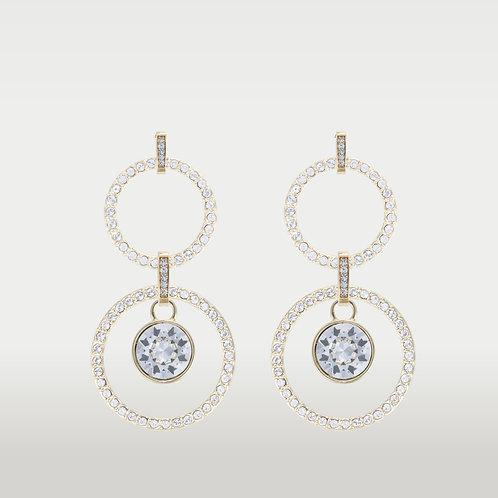 Infinite Circles (M/L) Earrings with Swarovski (L)Stone