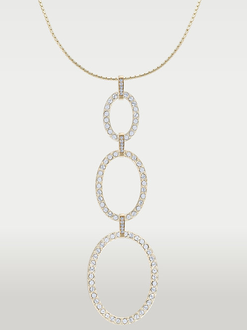 Timeless Ovals(S/M/L)Necklace Silver and Gold