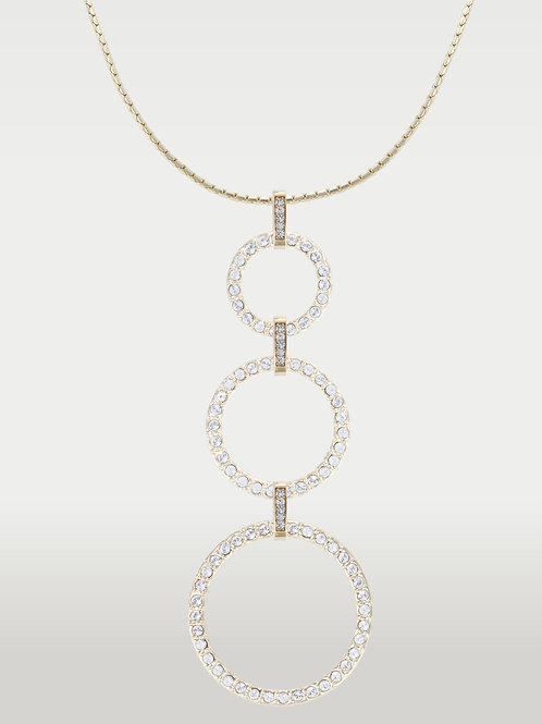 Infinite Circles(S/M/L)Necklace-Silver and Gold