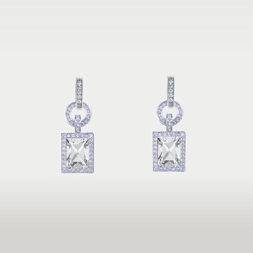 Happy Girl Earrings (L) Silver