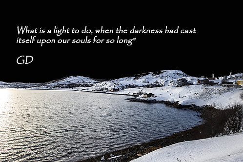What is a light to do, when the darkness
