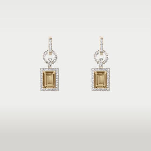 Happy Girl Earrings (L) Gold