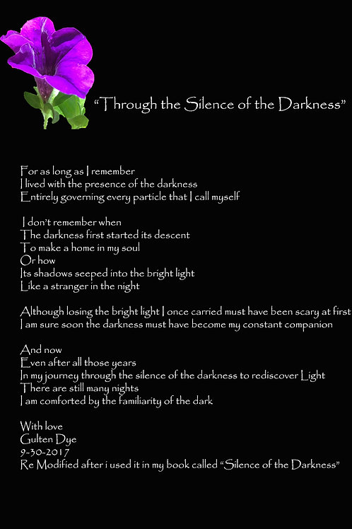 Through the Silence of the Darkness