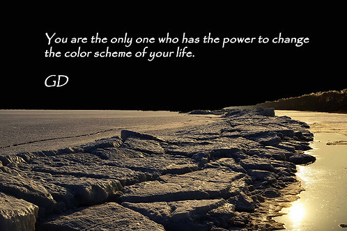 You are the only one who has the power