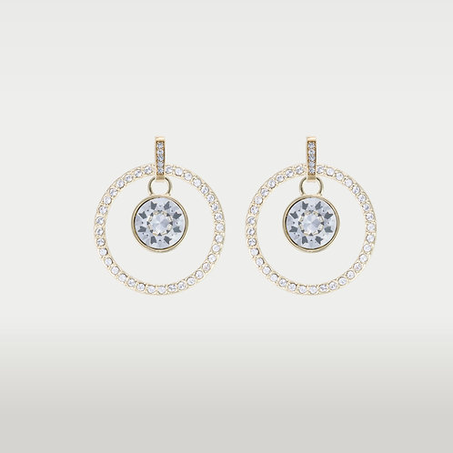 Infinite Circles (L) Earrings with Swarovski (L)Stone