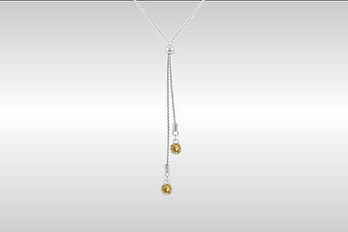 Lariat Small Round / Silver